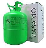 PASAMO 150 Helium SMALL in Deutschland abgefülltes Marken Heliumgas nach DIN EN ISO 14175 Ballongas mehr als 99% Rein - Grün to Go Edition - Stahlflasche Gross mit 0,15 m³ = 150 Liter PRALL gefüllt