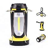 QWERDF 2 Pezzi da Campeggio Lanterne, Ricaricabile 3-in-1 Principale Impermeabile Lanterne Portatili per L'uragano di Emergenza Escursionismo Pesca con Cavo USB