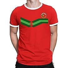 Tee Spirit Portugal Camiseta Para Hombre World Cup 2018 Fútbol New Style  Retro fe80c635695ee