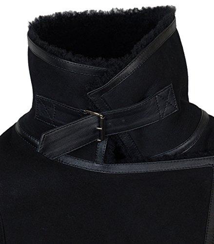 Damen TIGHA Lederjacke Luana mit Lammfell schwarz – black black M - 3
