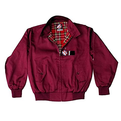Original Warrior Clothing Harrington Jacket BURGUNDY