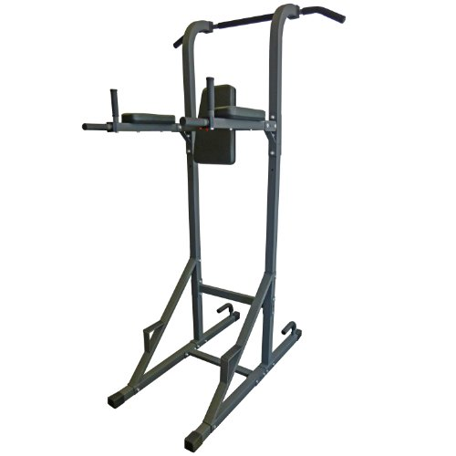 DKN Vkr Power Tower con Pull Up e DIP station–Metallic