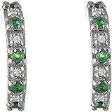 Ivy Gems Sterling Silver Half Hoop Earrings