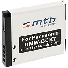Batteria DMW-BCK7 per Panasonic Lumix DMC-FP5, FP7, FT20, FT25, FS16, FS18, FS22, FS28