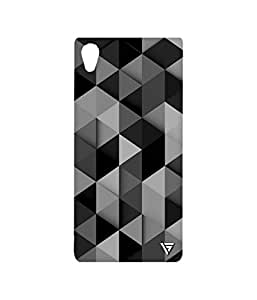 Vogueshell Triangle Pattern Printed Symmetry PRO Series Hard Back Case for Sony Xperia M4 Aqua