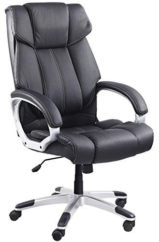 Venta Stock Confort - Sillón de oficina, piel sintética, color negro