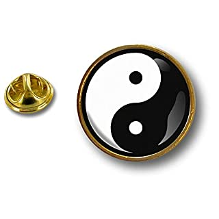 Akacha pins pin's Flag Badge Metal Lapel hat Button Ying yang Peace and Love feng Shui