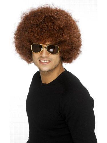 Perücke Funky Afro in braun Lockenperücke