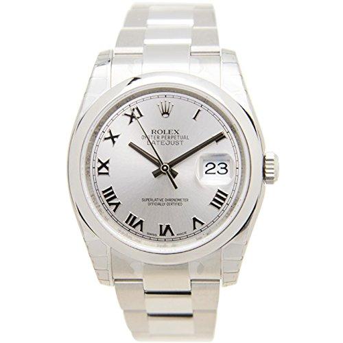 Rolex Men's 36mm Steel Bracelet & Case Sapphire Crystal Automatic Silver-Tone Dial Watch m116200-0055