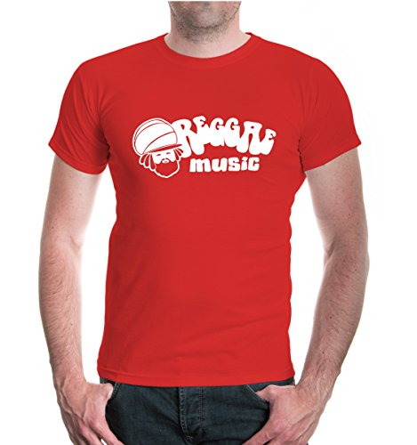 buXsbaum® T-Shirt Reggae Music Red-White