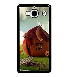 PrintVisa Pumpkin House High Gloss Designer Back Case Cover for Xiaomi Mi 2S :: Xiaomi Redmi 2S :: Xiaomi Redmi 2 Prime :: Xiaomi Redmi 2 Note