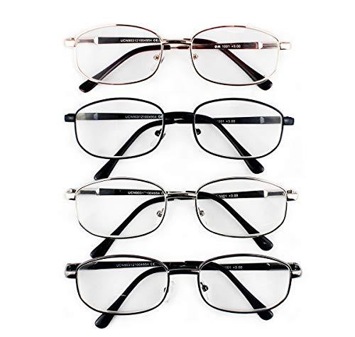 53d018195f Pack de 4 Gafas de Lectura Vista Cansada Presbicia, Graduadas Dioptrías  +1.00 hasta +