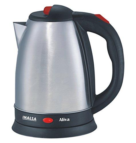 Inalsa Aliva 1500 Watt Electric Kettle in 1.5-Litre (Black/Silver)