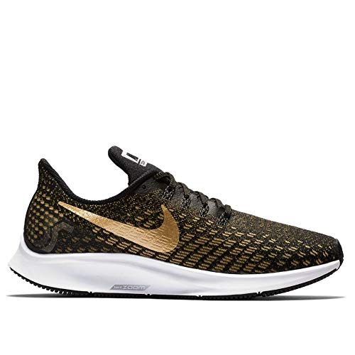 info for acdec b36a8 Nike Damen Air Zoom Pegasus 35 Laufschuhe Mehrfarbig (Black Metallic Wheat  Gold 007)