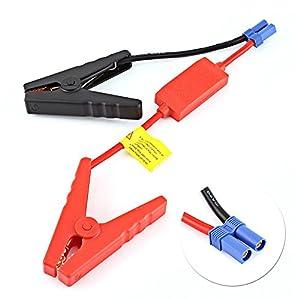Cables de arranque para elevador de batería de coche, 30 V, 160 A, cables de arranque para batería de automoción, cables de arranque con pinza de cocodrilo para conexión de batería de coche, salto de arranque, evita la marcha atrás