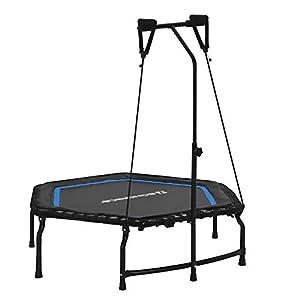 SONGMICS Fitness Trampolin, faltbar, Verstellbarer Griff, bis 120 kg belastbar