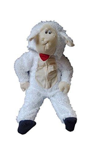 Kostüm Lamm Kleinkind Mädchen - Seruna An63/00 Gr. 68-74 Schaf Kostüm für Fasching und Karneval, Kostüme für Baby Babies Kleinkinder, Faschingskostüm, Karnevalkostüm