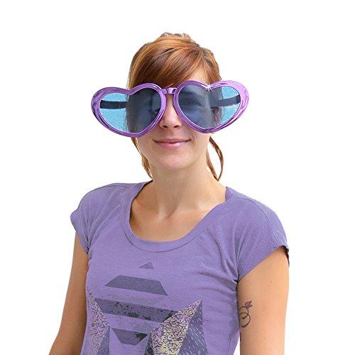 Oblique Unique® Herzförmige Übergroße Brille - Jumbo Party Brille