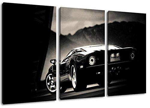 ford-gt-imagen-negro-sobre-lienzo-total-tamano-120x80-cm-enormes-fotos-completamente-enmarcado-con-c