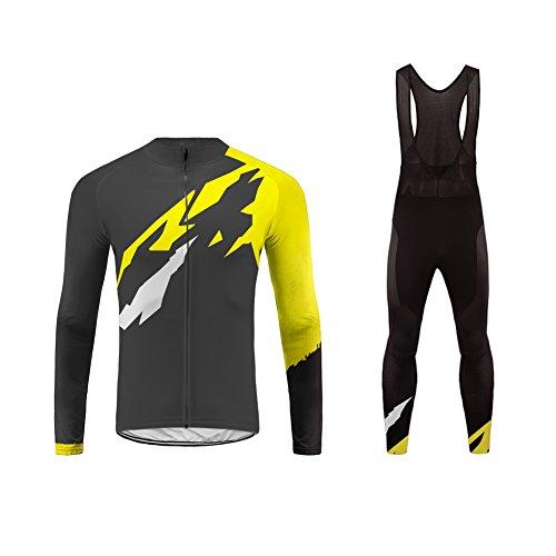 Uglyfrog Abbigliamento Ciclismo Uomo Inverno Vello Termico Maglia Manica Lunga +Pantaloni Abbigliamento da Ciclismo Equitazione Anti-Freddo ZRMX01F