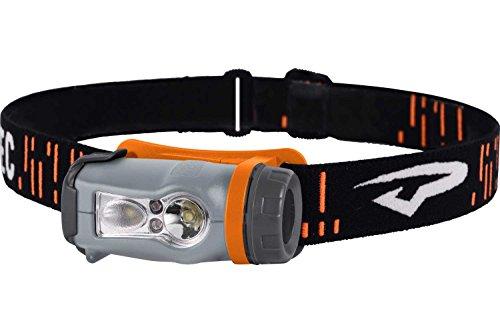 Princeton Tec Stirnlampe AXIS - grau/orange - 250 Lumen - weisse und rote LEDs dimmbar