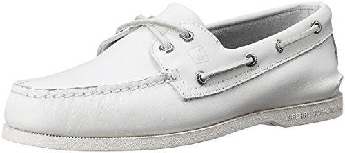 Sperry Top-Sider Mens A/O Boat Shoe White/Leather