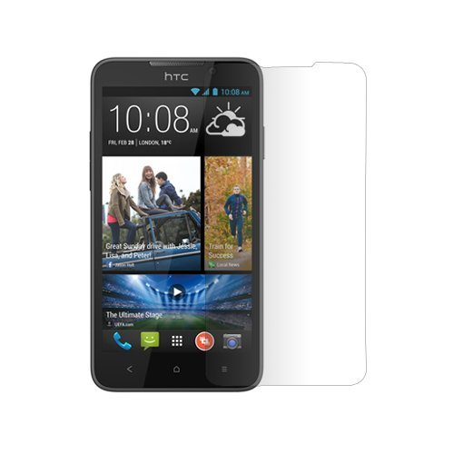 Chevron Tempered Glass Screen Protector Guard For HTC Desire 516  available at amazon for Rs.299