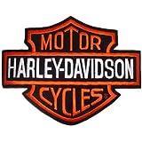 Patch Toppa Termoadesiva Harley Davidson Logo Bar&Shield B&S XL Grande 26x20 x Giacche e Gilet Giubbotto