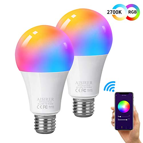 Ampoule Intelligente Wifi Led Smart Bulb E27, AISIRER...