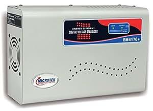 Microtek EM4170+ 170V-270V Digital Display Voltage Stabilizer (Grey) for AC upto 1.5 Ton