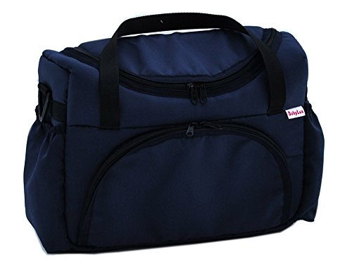 BABYLUX Pflegetasche WICKELTASCHE Kinderwagentasche Windeltasch für Kinderwagen (Grafit) Marine Blau