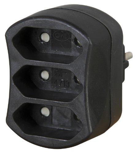 Kopp 471305006 Adapter 3-fach, schwarz