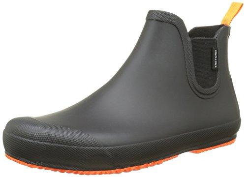 Tretorn Herren Bo Gummistiefel, Schwarz (Black/Orange 011), 43 EU