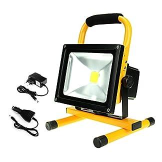 Dersoy Foco LED Exterior Proyector LED Blanco Impermeable IP65 para Uso en Interiores y Exteriores