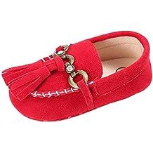 Zapatos de bebé, Switchali Bebé Niña Linda borla Cuna Zapatos Ponerse cómodo Zapatos Mocasines Suave Prewalker Niño Antideslizamiento Zapatos de guisantes