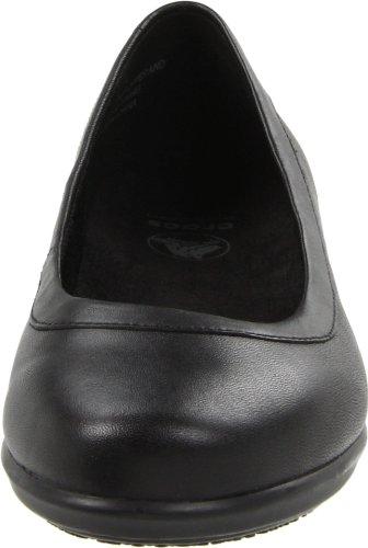 Crocs Grace Flat, Bailarinas Mujeres Negras (noir-v.6)