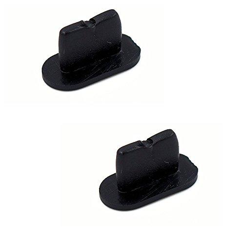 smartec24® 2x Dock-Staubschutz-Set für Apple iPhone 7 schwarz Silikon Staubschutz Stöpsel für den Lightning Lade-Eingang (2x iPhone 7 schwarz)
