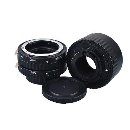 Meike - Extensor automático de objetivo para Nikon D7100, D5300, D610, D600, D800, D5200, D3200 (3 unidades: 12, 20 y 36 mm)