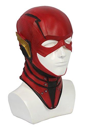 Xcoser Rot Maske Deluxe Latex Helm The Film Cosplay Kostüm Replik Props für Herren Halloween Verrücktes Kleidung ()