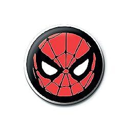 Echte Marvel Comics Spider-Man Symbol Logo Taste Abzeichen Stift Retro