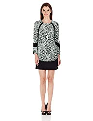 French Connection Womens Body Con Dress (71DAV_Astro Green Multi_10)