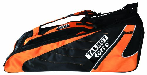 talbot-torro-badminton-doppel-thermo-racketbag-schwarz-orange