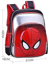 0383d50e4e BAILIANG Zaino per Bambini Spiderman Grande capacità Materiali Impermeabili  Zaino Ragazzi Rifrangenti Spallacci A Scomparsa Elementare