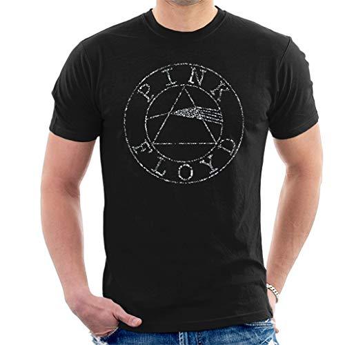 Pink Floyd Diamant Circle Logo Kurzarm Herren T-Shirt Schwarz Large - Diamant-logo-t-shirt