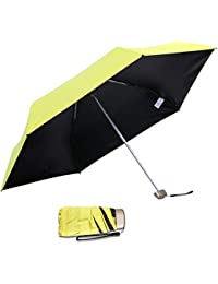 DORRISO Plegable Paraguas Mujer Sombrilla 210T de Alta Densidad Portátil Compacto Resistente al Viento Impermeable Anti
