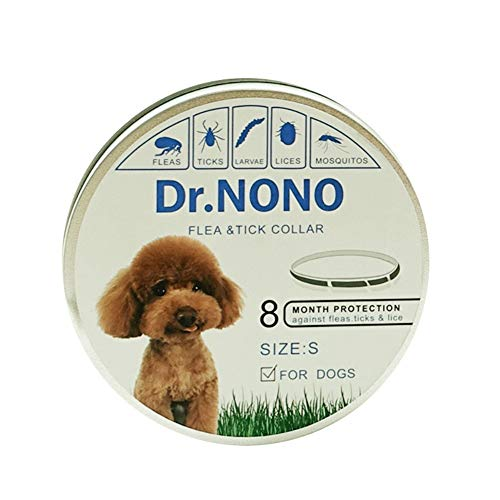 RIOC-ELEC Wasserdichtes Halsband für Hunde/Katzen, sicheres Insektenschutzmittel mit natürlichen ätherischen Ölen Entfernen Sie Flöhe, Zecken, Läuse und Mücken für Hundekatze (Size : S(1 * 30cm))