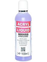 Nailfun Acryl-Flüssigkeit 100 ml Extended mit Haftvermittler - verlängerte Aushärtungszeit - gegen Liftings entwickelt, (1 x 100 ml)
