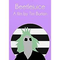 Beetlejuice Minimalist Film Movie Poster Print Tim Burton A3 Large