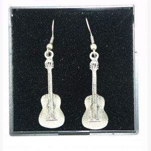 Boucles d'oreilles en forme de guitare espagnole