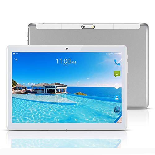 ,65 cm (10,1) Tablets PC Android 7.0, 3G,HD, WiFi,GPS,GSM,Octa Core,Dual SIM Card, 64GB+4GB,1920X1200 IPS, Silber ()